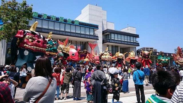 唐津 春季例大祭の模様