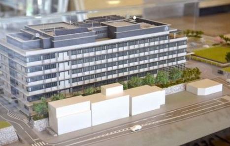 唐津市 市役所新庁舎の模型