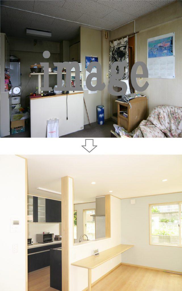 唐津のM様邸 リノベーション(大規模リフォーム)実例 キッチン