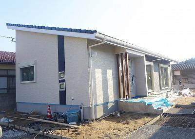 唐津市のT様邸 外観施工状況1
