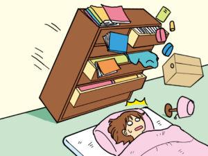 寝室の地震対策