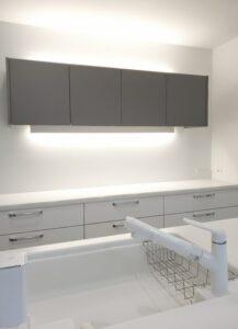 キッチン廻りのバランス照明