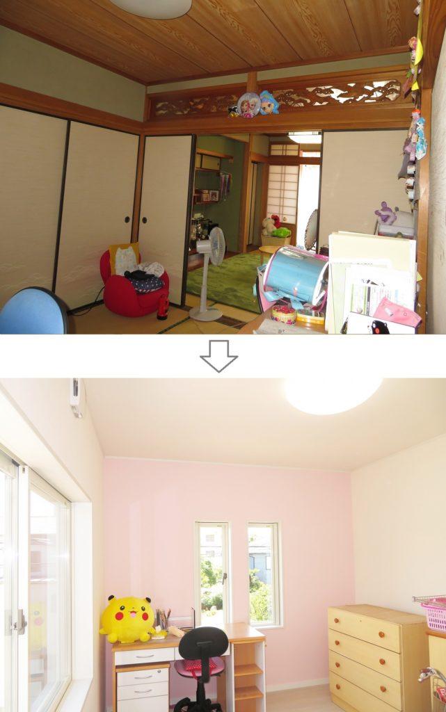 m様邸 リフォーム・リノベーション ビフォーアフター4- 子供部屋