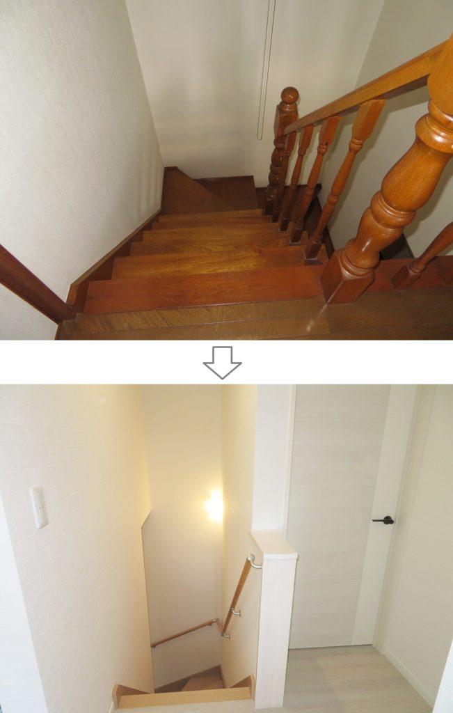 m様邸 リフォーム・リノベーション ビフォーアフター 階段付近